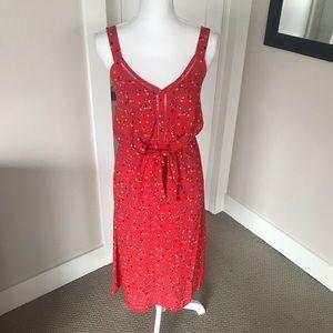 Sienna Sky Red Printed Midi Dress, XS